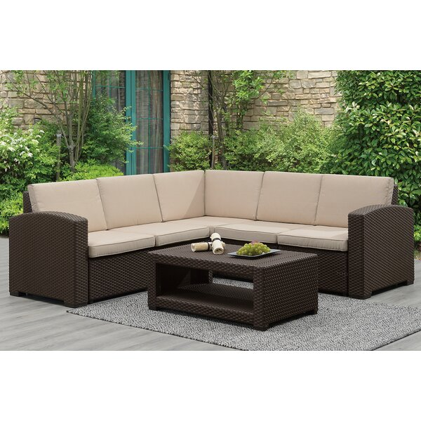 Galesville 6 Piece Sectional Seating Group with Cushions by Highland Dunes