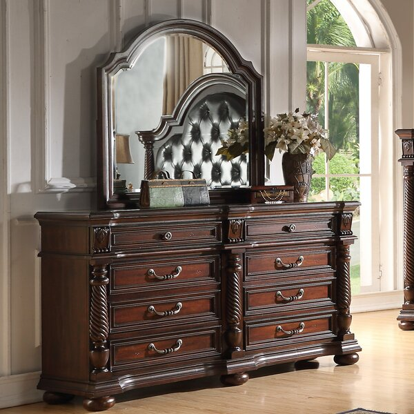 Casa del Mar 8 Drawer Double Dresser with Mirror by Fairfax Home Collections