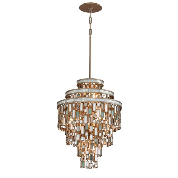 Dolcetti 13-Light Shaded Tiered Chandelier By Corbett Lighting