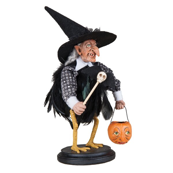 Stella Witch Crow on Stand Figurine by The Holiday Aisle