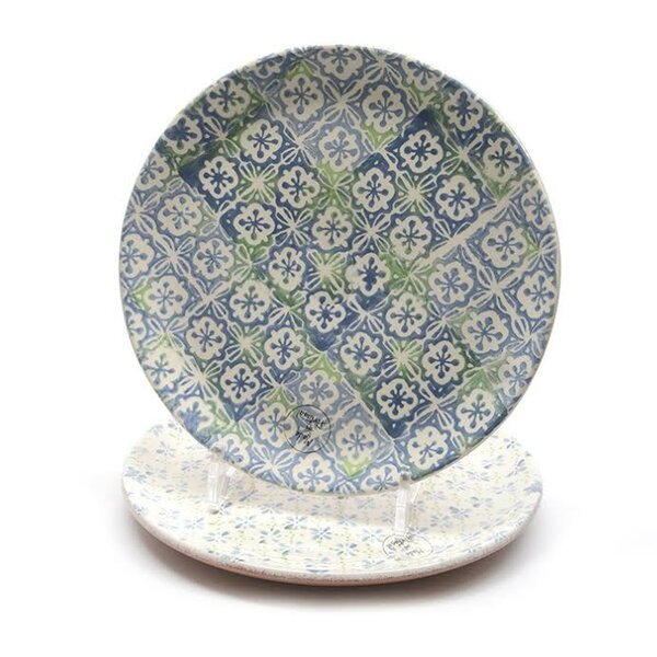 French Countryside 9.25 Decorative Cross and Flower Round Terracotta Dinner Plate by Northlight Seasonal