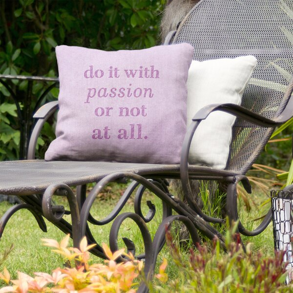 Passion Inspirational Indoor/Outdoor Throw Pillow