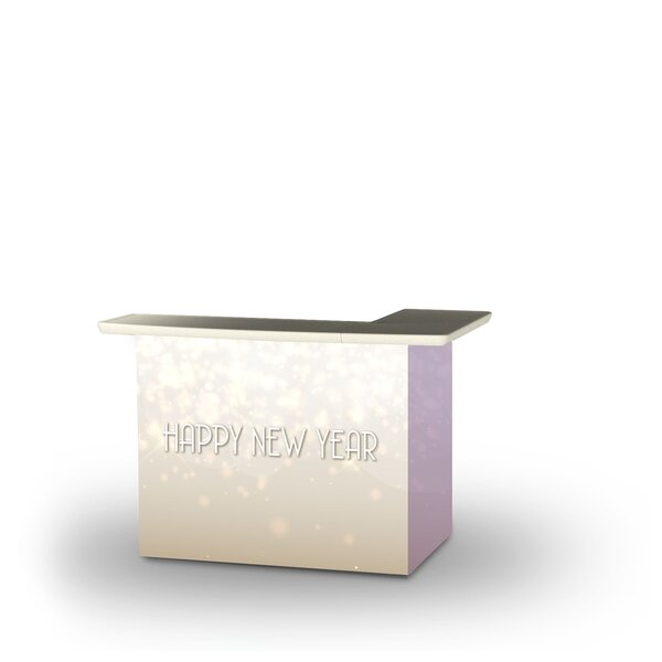 Almanor New Year Light Rose Home Bar by East Urban Home East Urban Home