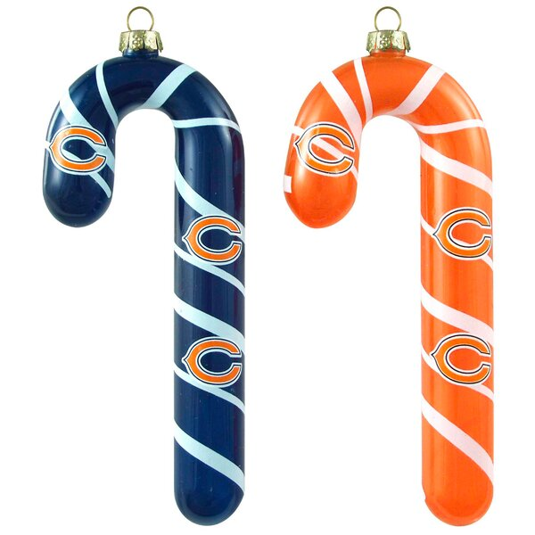 NFL Blown Candy Cane (Set of 2) by Topperscot