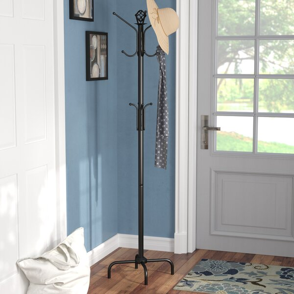 Coat Rack in Satin Black by Charlton Home