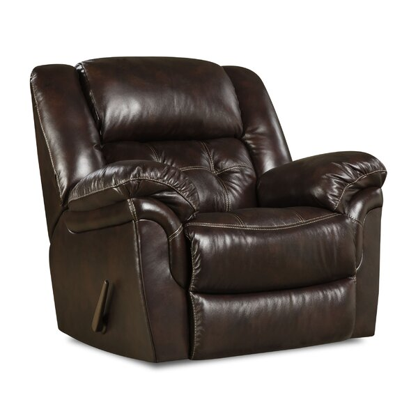 Usonia Leather Rocker Recliner By Red Barrel Studio