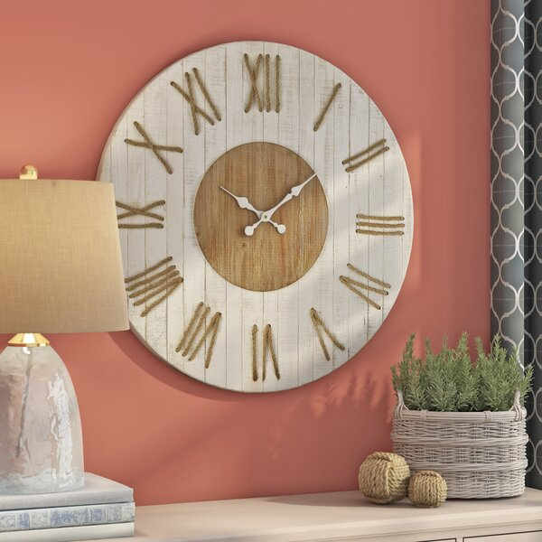 Belvidera  Oversized 36 Wood Wall Clock by Longshore Tides