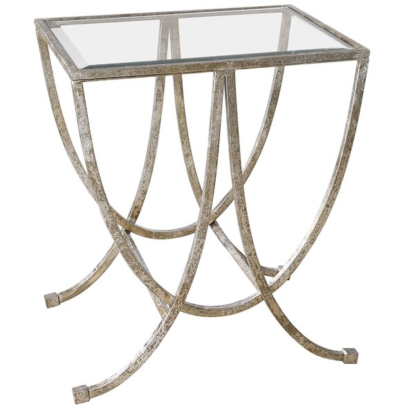 Farrow Antiqued End Table By House Of Hampton Great price