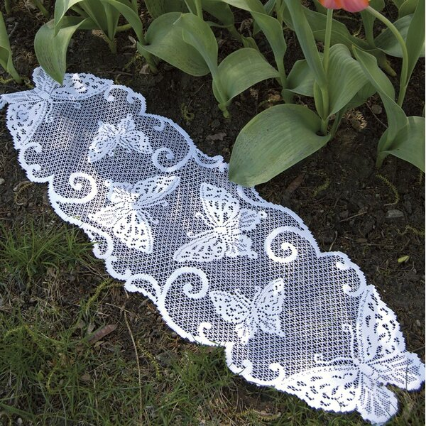 Butterflies Table Runner by Heritage Lace