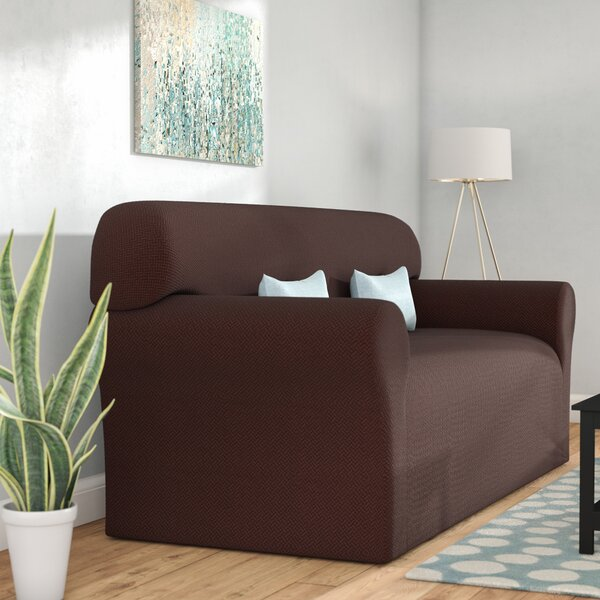 Box Cushion Sofa Slipcover by Ebern Designs