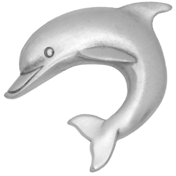 Dolphin Left Facing Novelty Knob by Sea Life Cabinet Knobs