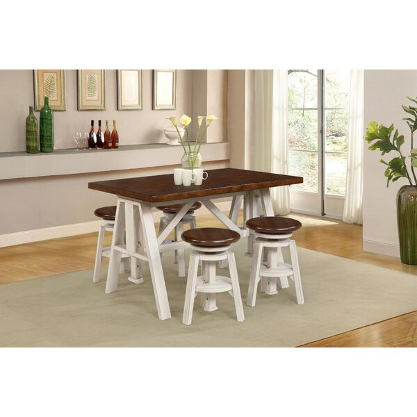 Adalbert 5 Piece Dining Set By August Grove Comparison
