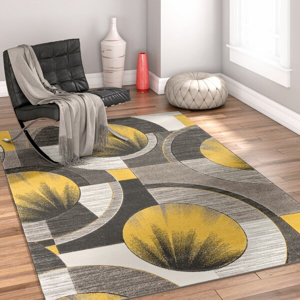 Yolo Gold/Gray Area Rug by Well Woven