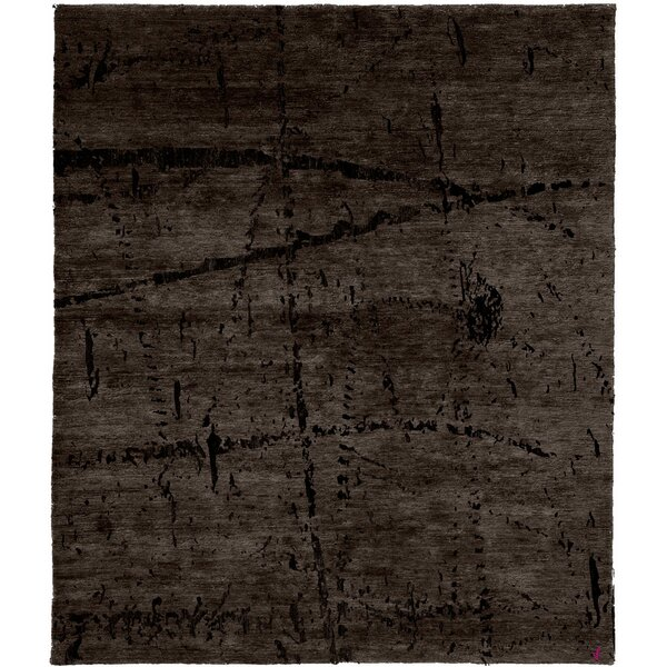 One-of-a-Kind Verla Hand-Knotted Traditional Style Gray 6' x 9' Wool Area Rug