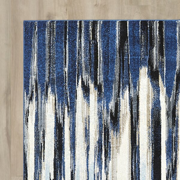 Beach Channel Indigo Area Rug by Wrought Studio