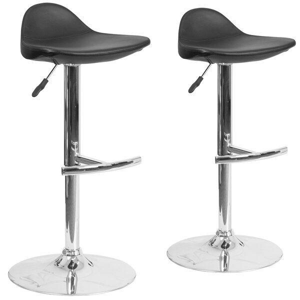 Nyberg Adjustable Height Swivel Bar Stool (Set of 2) by Orren Ellis