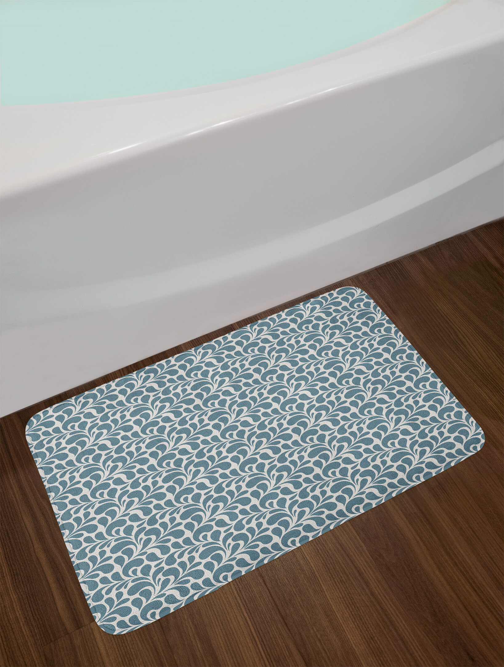 East Urban Home Ambesonne Abstract Bath Mat by, Dark Colored Leaves ...