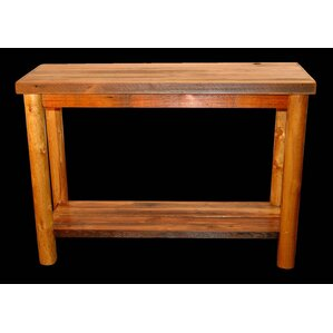 Barnwood Console Table with Round Legs by Utah Mountain