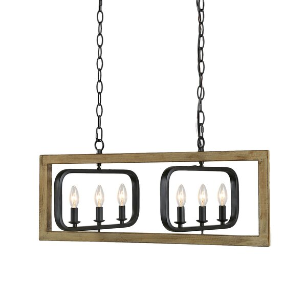 Frogertha 6 - Light Unique Rectangle Chandelier by Gracie Oaks Gracie Oaks