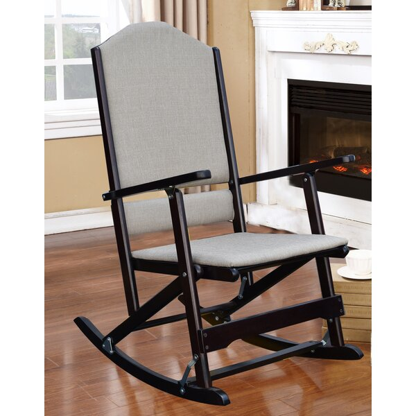 Cinthia Solid Wood Folding Rocking Chair by Red Ba