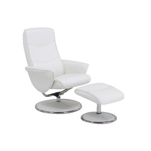 Haverty Glam High Back Manual Swivel Recliner with Ottoman by Ebern Designs