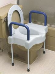 Extra Wide Tall-Ette Elevated Raised Toilet Seat By Maddak.