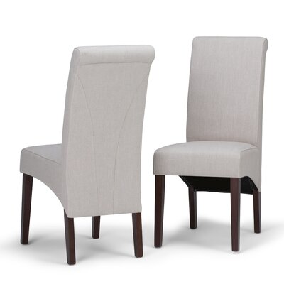 Agnon Deluxe Upholstered Dining Chair Color: Natural by Alcott Hill