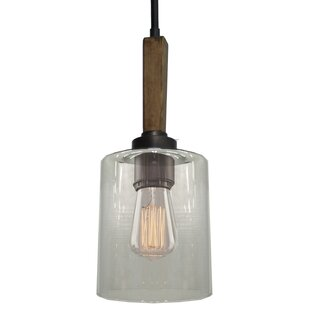 Best Reviews Legno Rustico 1-Light Cylinder Pendant By Artcraft Lighting