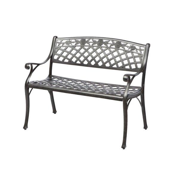 Markham Cast Aluminum Garden Bench by One Allium Way