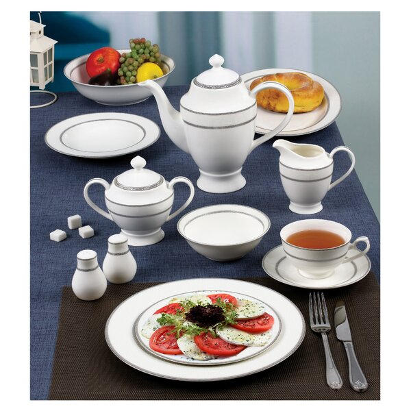 New Bone 55 Piece China Dinnerware Set Service for 8 by Lorren Home Trends