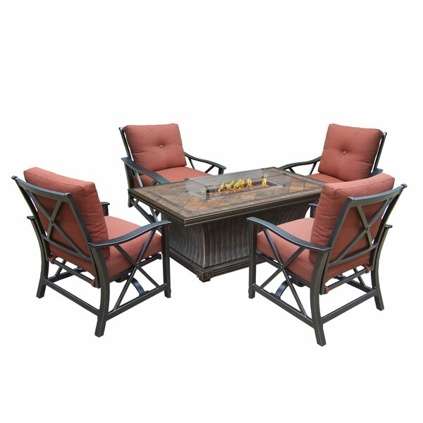 Alvarenga 5 Piece Conversation Set with Cushions by Ivy Bronx