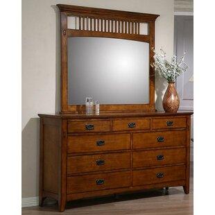 Affordable Price Elgin 9 Drawer Dresser with Mirror ByLoon Peak