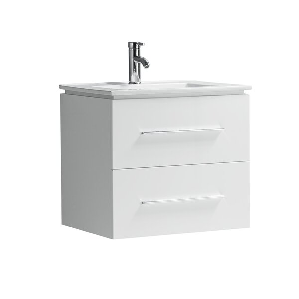 Sandoval 24 Wall-Mounted Single Bathroom Vanity Set by Orren Ellis