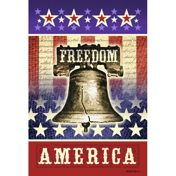 Freedom America Garden flag by Toland Home Garden