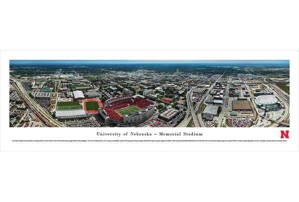 NCAA Nebraska, University of - Aerial by James Blakeway Photographic Print by Blakeway Worldwide Panoramas, Inc