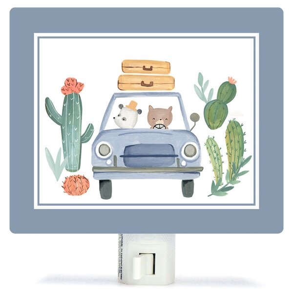 Non-Personalized Best Friends on the Road Canvas Night Light by Oopsy Daisy
