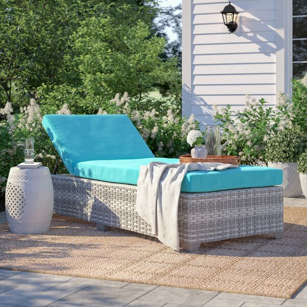 Falmouth Reclining Chaise Lounge with Cushion by Sol 72 Outdoor