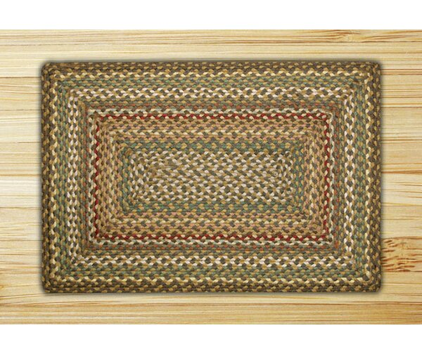 Berrin Fir/Ivory Braided Area Rug by August Grove