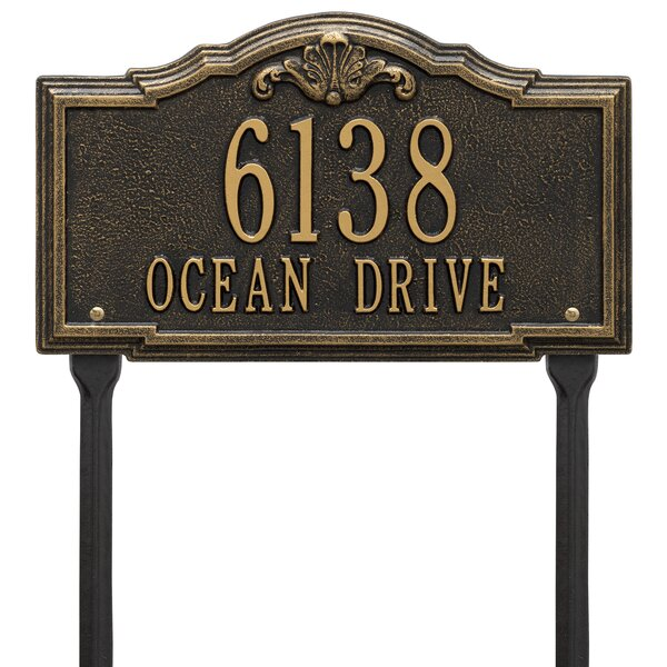 Gatewood Personalized Standard 2 Line Lawn Address Sign By Whitehall Products.