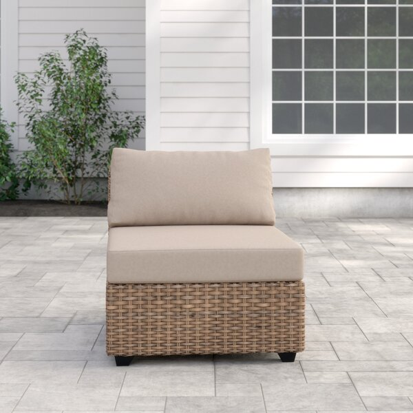 Waterbury Armless Patio Sofa with Cushions by Sol 72 Outdoor Sol 72 Outdoor