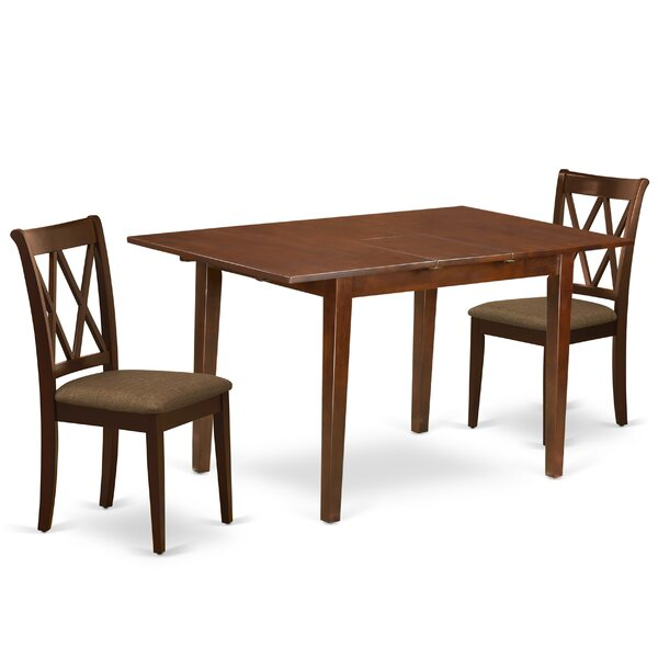 Visby 3 Piece Extendable Solid Wood Dining Set by Winston Porter Winston Porter