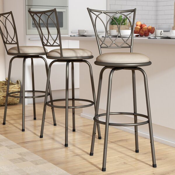 Frankfort Swivel Bar Stool (Set of 3) by Three Posts
