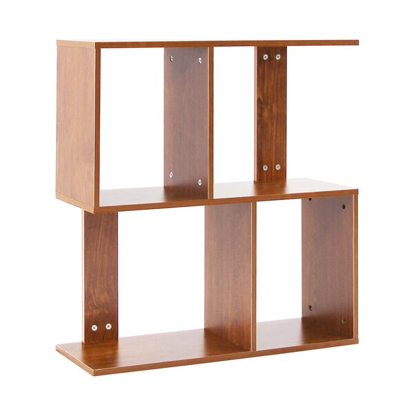 Tallmadge 2 Tier Shelves Display Geometric Bookcase By Ebern Designs