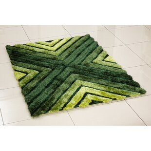 Whisper Cross Hand Tufted Green Area Rug
