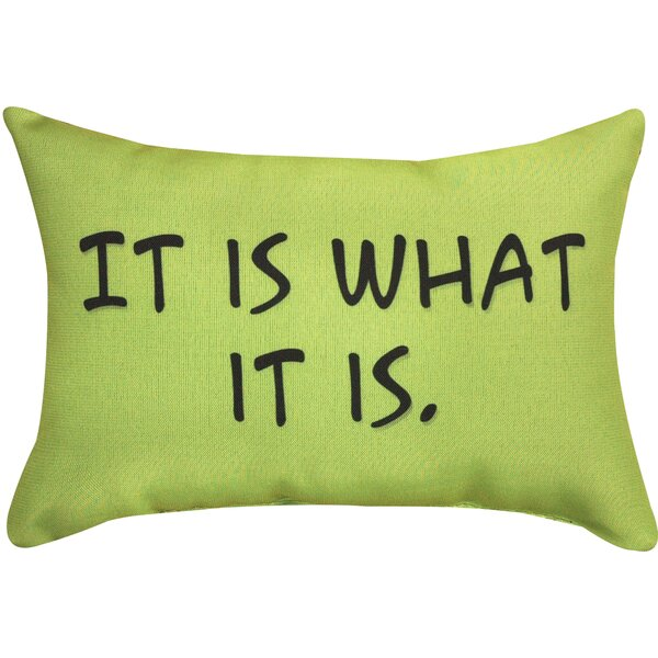 It is What It is Word Lumbar Pillow by Manual Woodworkers & Weavers