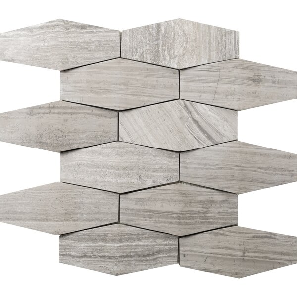 Metro Prism 2 x 4 Marble Mosaic Tile in Gray by Emser Tile
