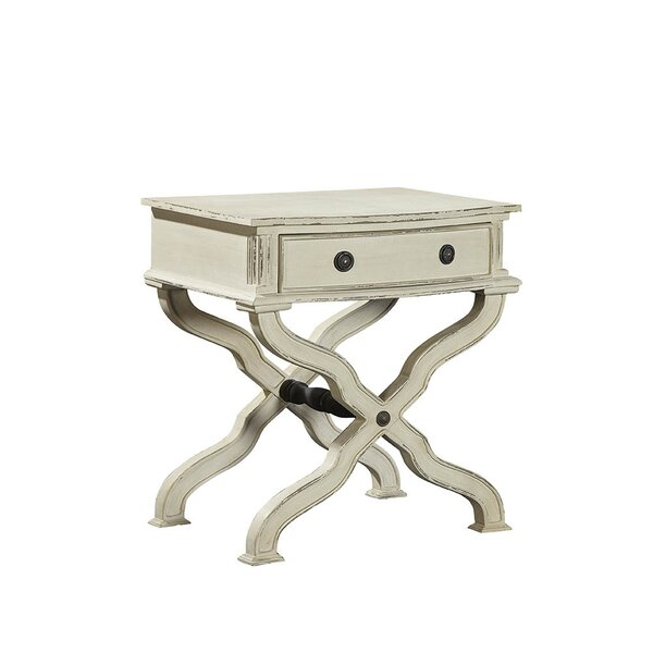 Hilson End Table with Storage by Furniture Classics
