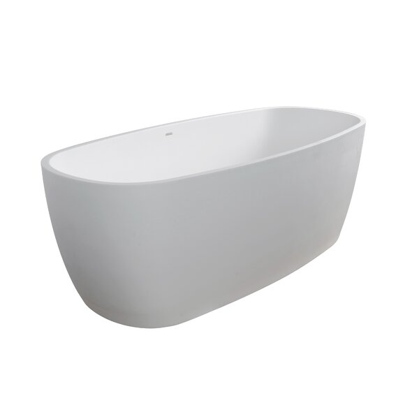 Lunar 71 x 31.5 Freestanding Soaking Bathtub by Clarke Products