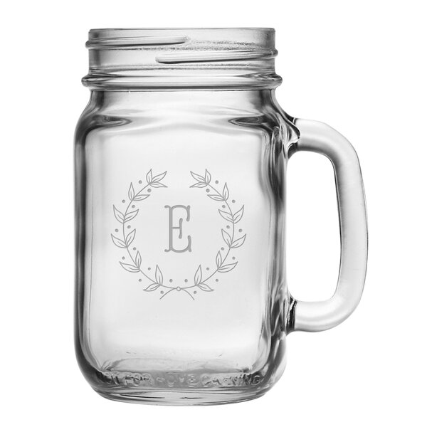 Personalized 16 oz. Mason Jar (Set of 4) by Susquehanna Glass
