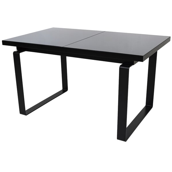 Shauna Glass Top Extendable Dining Table by Orren Ellis